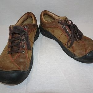 KEEN Brown Leather Presidio Lace Up Oxford Shoes